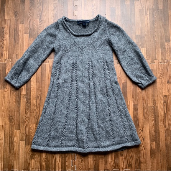 French Connection Dresses & Skirts - French Connection- Alpaca Wool Knit Babydoll Dress